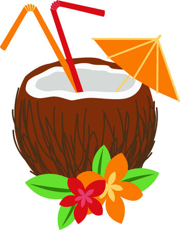 pina colada: Come and visit the island of Hawaii!  Surfers and beach goers enjoy the tropical Hawaiian island as their travel destination.