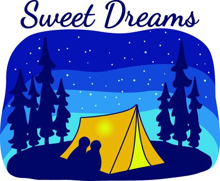 Camping is a fun activity to get away from the electronics and enjoy the outdoors.  Use this camping image with your design.