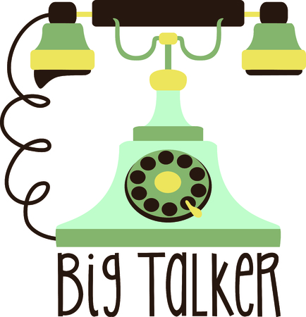 talker: Add this retro phone to your next country design.