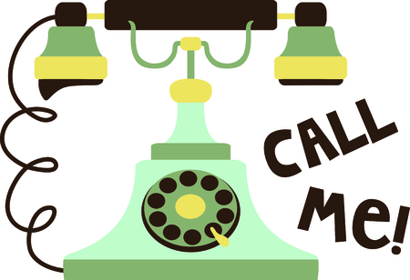 call me: Add this retro phone to your next country design.