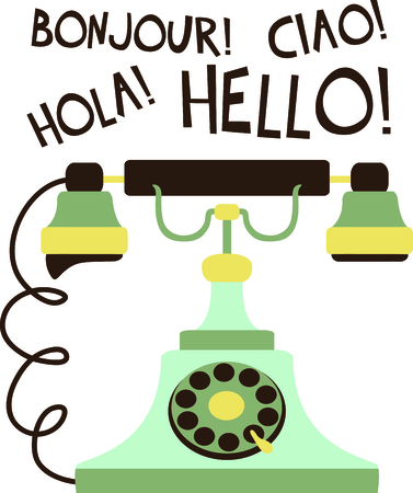 old fashioned rotary phone: Add this retro phone to your next country design.