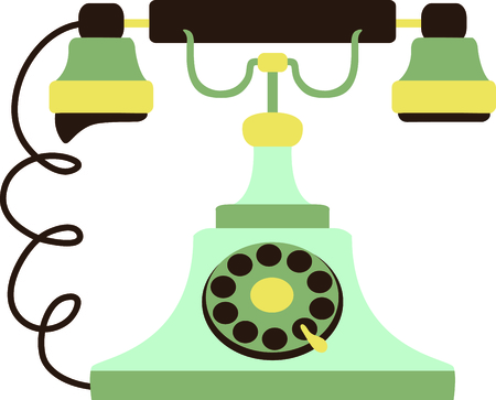 Add this retro phone to your next country design.