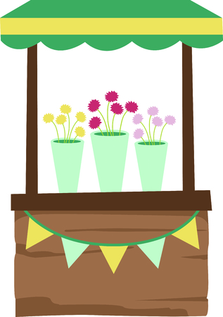 plant stand: Add this retro flower stand to your next country design.