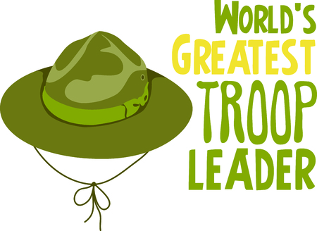 troop: Camping is a fun activity to get away from the electronics and enjoy the outdoors.  Use this boy scout image with your design. Illustration