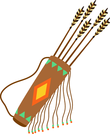 Camping is a fun activity to get away from the electronics and enjoy the outdoors.  Use this arrows and quiver image with your design.