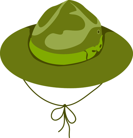 Camping is a fun activity to get away from the electronics and enjoy the outdoors.  Use this boy scout image with your design. Illustration