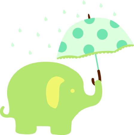 pachyderm: A sweet baby elephants are a perfect addition to babys nursery.