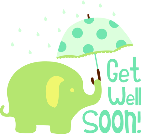 brolly: A sweet baby elephants are a perfect addition to babys nursery.