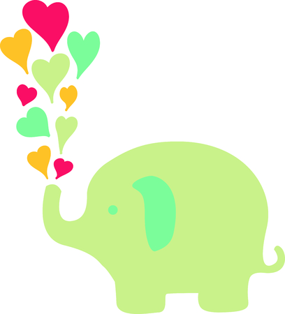 A sweet baby elephants are a perfect for Valentines Day.