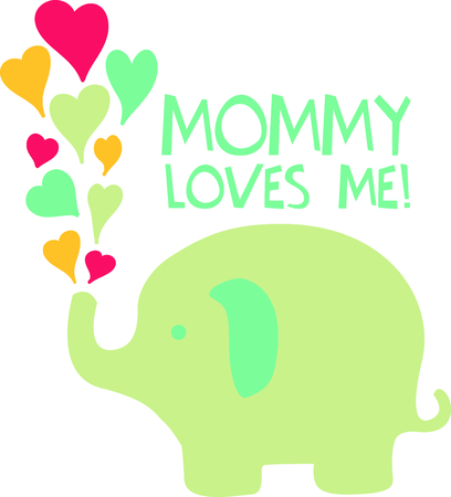 A sweet baby elephants are a perfect for Valentine's Day. Stock fotó - 43729430