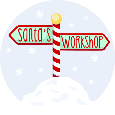 north pole sign: Get into the holiday spirit with your Christmas decorating.