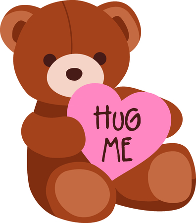 stuffed: This Valentine bear is perfect for your next design. Illustration
