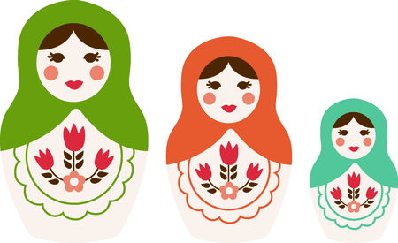 babushka: Russian nesting dolls is a special toy.  Give this as a gift.