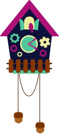 reloj cucu: Un reloj de cuco es un diseño perfecto de Alemania. Vectores