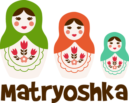 Russian nesting dolls is a special toy.  Give this as a gift.