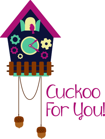 cuckoo clock: A cuckoo clock is a perfect design from Germany.