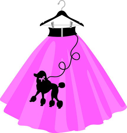 Girls love throwback 50s and wearing poodle skirts.