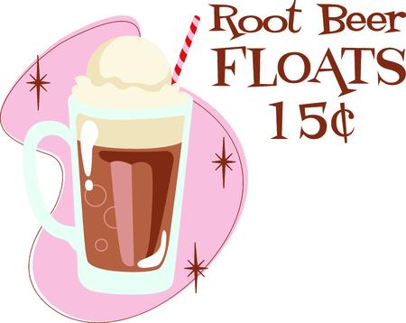 Tijd om terugkeer naar de klassieke wortel bier float. Een perfect beeld voor uw volgende ontwerp.