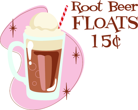 Time to throwback to the classic  root beer float.  A perfect image for your next design.