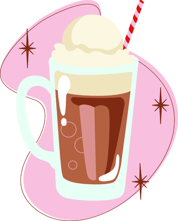 float: Time to throwback to the classic  root beer float.  A perfect image for your next design.