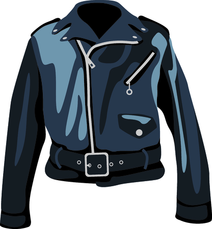 Time to throwback to the classic retro jacket.  A perfect image for your next design.