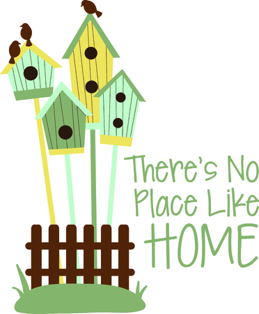Birdhouses are a special design for the bird watcher. Illustration