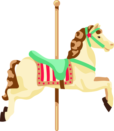 Get this carousel horse to give to a child for their birthday.