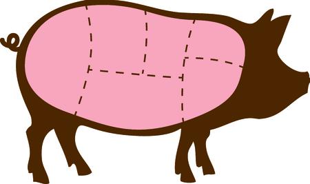 Dieses Bild von einem Schwein ist perfekt für Ihr nächstes Projekt. Standard-Bild - 43779147