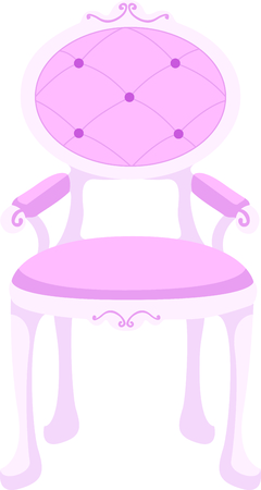 arm chairs: This princess chair is the perfect design for a girl.