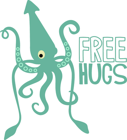 This giant squid is perfect for your nautical theme.