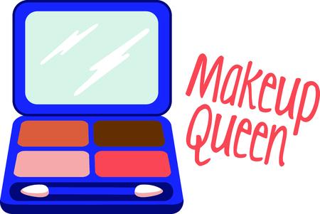 Mädchen lieben es, Make-up tragen. Verwenden Sie dieses Bild mit Ihren Entwurf. Standard-Bild - 43779606