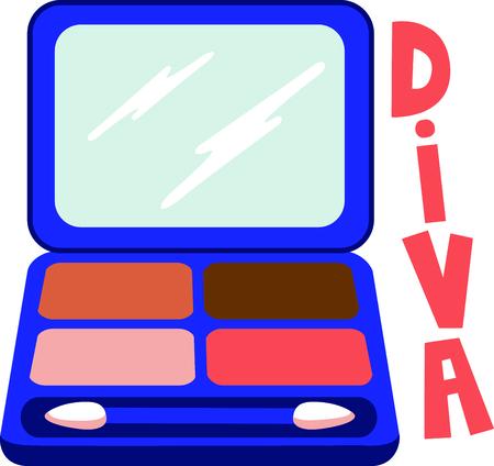 cosmetician: Girls love to wear makeup.  Use this image with your next design. Illustration
