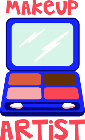 Girls love to wear makeup.  Use this image with your next design. Illustration