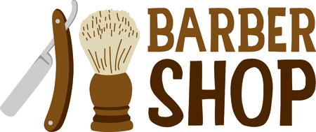 barbershop: Its the perfect advertisement for your barbershop business. Illustration