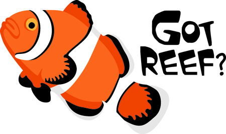 fishes: This clown fish is perfect for your nautical theme or nursery.