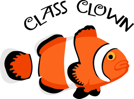 This clown fish is perfect for your nautical theme or nursery.