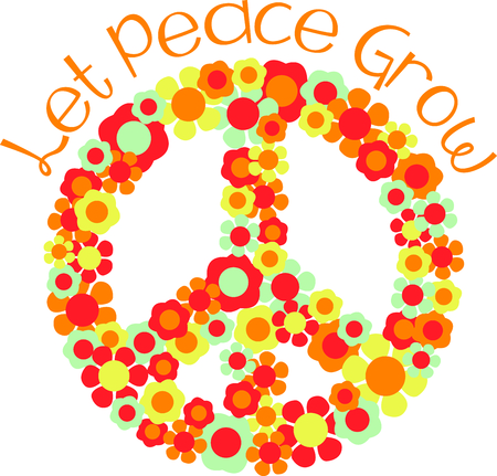 floret: This is a beautiful peace image is a perfect design for your summertime fun. Illustration