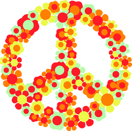 This is a beautiful peace image is a perfect design for your summertime fun. Illusztráció