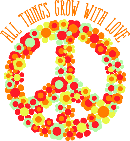disarmament: This is a beautiful peace image is a perfect design for your summertime fun. Illustration