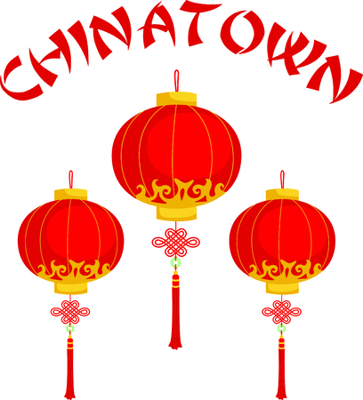 chinatown: This Chinese lantern is perfect for your next design.