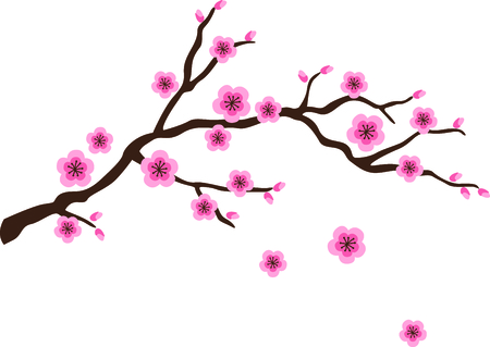 Este árbol de flor de cerezo es perfecto para su próximo diseño. Foto de archivo - 43779867