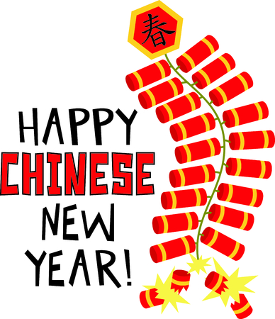 This Chinese firecracker is perfect for your next design. Ilustração