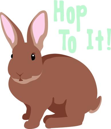 leveret: Get bunny image for your next Easter design. Illustration