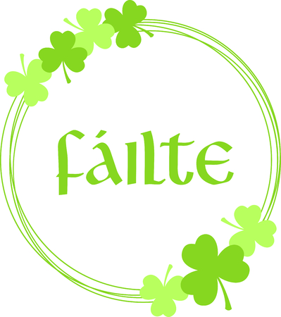 saint paddys day: shamrock, clover leaves, trefoil, foliage, plant, luck symbol, Charm, Saint Patricks Day, St. Paddys, ireland holiday, feast day, circle, wreath, garland, blank