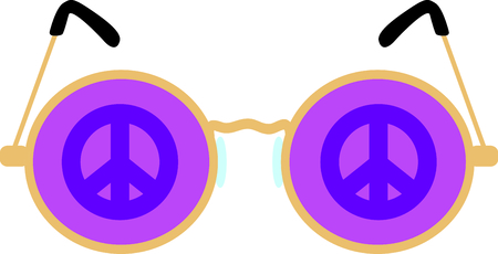 spec: Get these peace glasses for your next design. Illustration