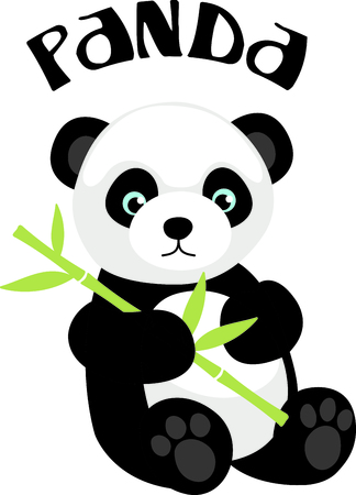 This Chinese Panda is perfect for your next design.