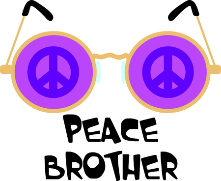 four eyes: Get these peace glasses for your next design. Illustration