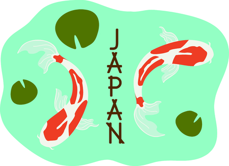 This Japanese Koi is perfect for your next design. Illustration