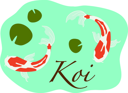 This Japanese Koi is perfect for your next design. Ilustração