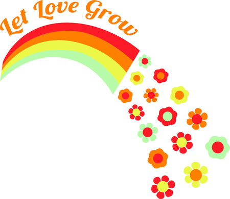 rainbow colours: Get this floral rainbow for your next design.